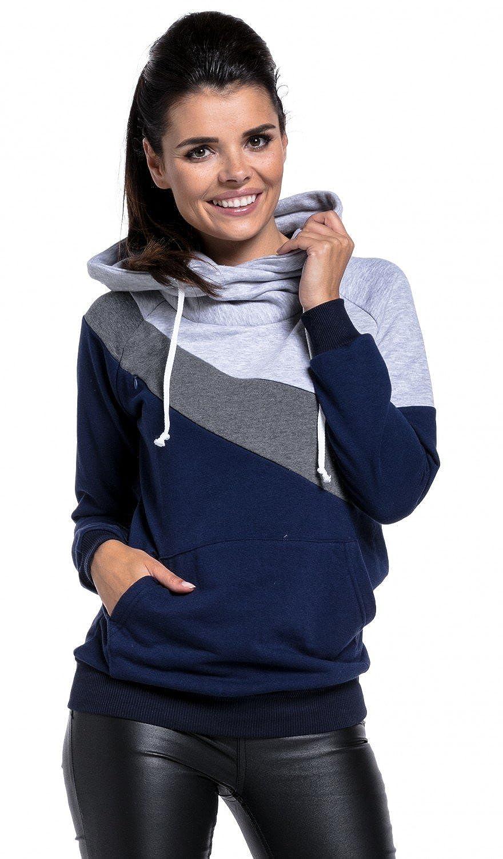 Zeta Zeta Zeta Ville - Umstands Stillen Sweatshirt Farbblock Kängurutasche - Damen - 321c B075Z8GWKK Sweatshirts Obermaterial 5508af