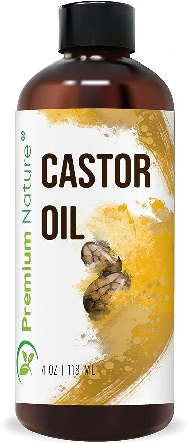 Premium naturaleza aceite de ricino, Natural Carrier aceite 4oz, estimula el crecimiento del cabello, pelo de condiciones, cura Inflamadas piel, nutre y hidrata la piel, se desvanece Manchas 4oz
