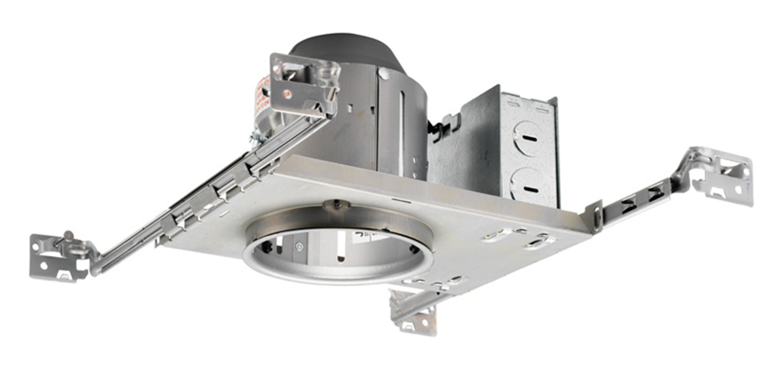 Juno Lighting TC44 4'' TC rated 50W Low Voltage New Construction Recessed Housing, Unfinished