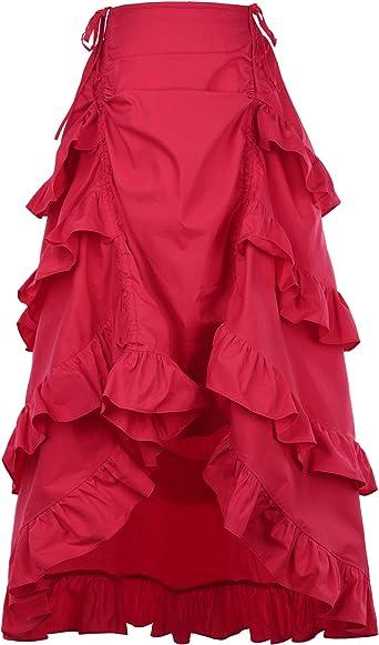 Belle Poque Gothic Steampunk Vintage Vintage Algodón Faldas ...