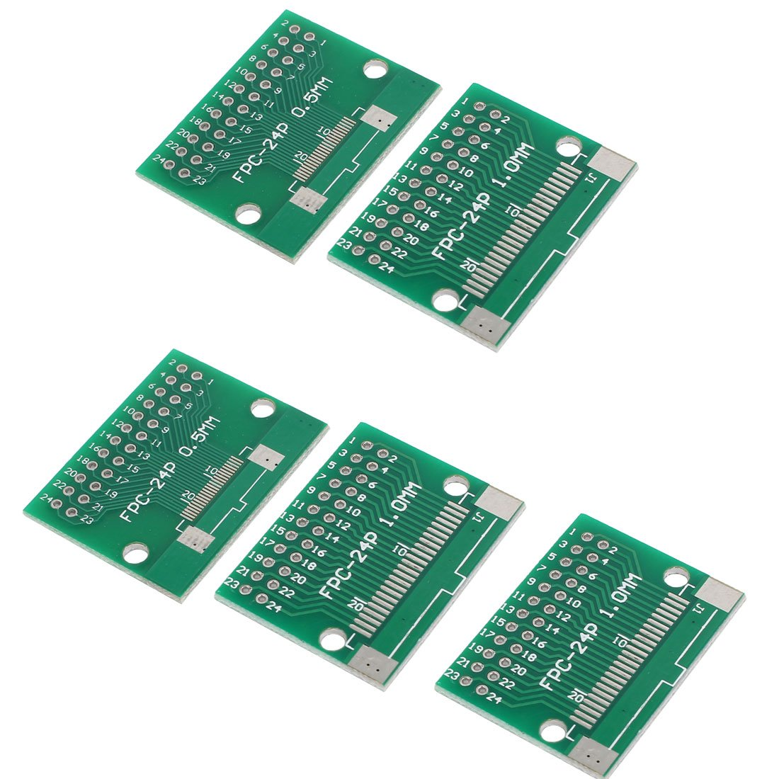 uxcell 5pcs Prototyping Double Side PCB Board Stripboard Green 34mmx26.5mm