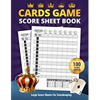 Cards Game Score Sheet Book: Elegant Large Score Sheets For Scorekeeping | 100 Sheets Personal Record Keeper Book