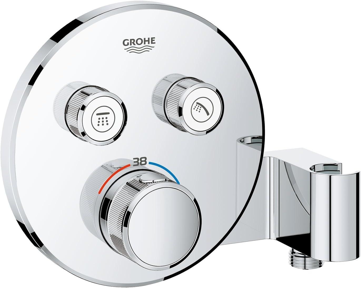 Blanc Grohe 29156LS0 Grohtherm Smartcontrol Thermostatique pour Installation Encastr/ée 2 Sorties