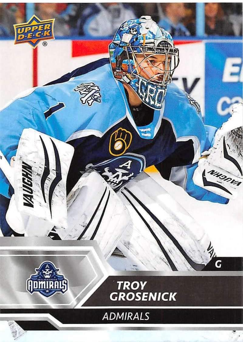 Amazon Com 2019 20 Ud Ahl Hockey 56 Troy Grosenick Milwaukee Admirals Official American Hockey League Trading Card By Upper Deck Collectibles Fine Art