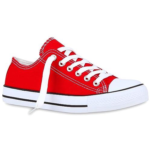 Stiefelparadies Zapatillas de Tela Para Mujer, Color Rojo, Talla 42 EU: Amazon.es: Zapatos y complementos