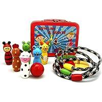 Kaper Kidz - Wooden Bowling Skittles and Quoit Set in Tin Box