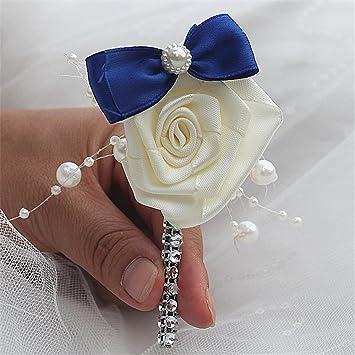 Fystore Hochzeit Braut Brautigam Seide Rose Blume Boutonniere