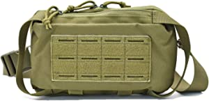Multi Shoulder handle Bag Tactical Compact Molle Waist Bags EDC Utility Pouch Bags Tool Bag Pouch Box Zipper Bags Tools Plier Organizer for Boy Men Women Garden Office Travel Hunting Camping (Green)