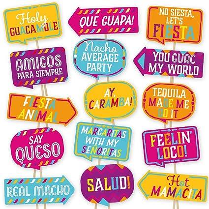 82344ecc6394 Cinco De Mayo Fiesta Photo Booth Props By Partygraphix - European Made  Multicolor Mexican Party Prop