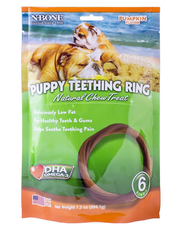 24-Count N-Bone Puppy Teething Ring Pumpkin Flavor by N-Bone, 6 rings, 7.2 oz