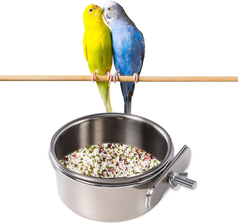 Bird Feeder Bowl,Bird Bowl, Parrot Feeder,Parrot Food Bowl, Bird Feeder for Cage,Parrot Food Bowl Feeding Coop Cups for Parakeet Lovebird Conure Cockatiel Budgie Chinchilla Ferret