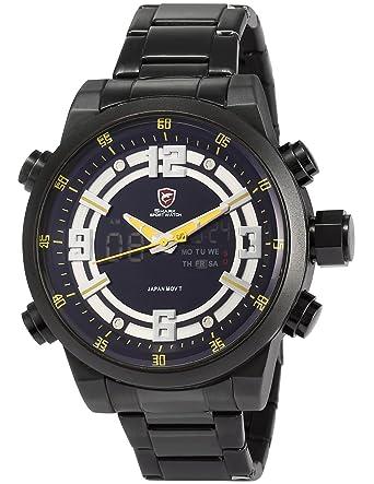 Shark SH342 - Reloj para hombres, correa de acero inoxidable color negro: Amazon.es: Relojes