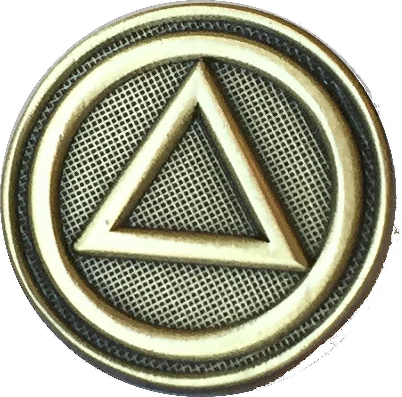 Amazon Aa Logo Circle Triangle Lapel Pin Alcoholics Anonymous