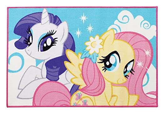 Fun House My Little Pony 712529 Rectangular Childrenu0027s Rug Polyester  120u0026nbsp;x 80u0026nbsp;x