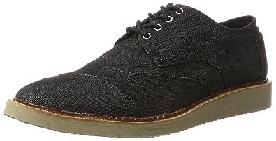 ca94085547c TOMS Brogue Men s Lace up Casual Shoes Black Denim 10009001 (Size  ...