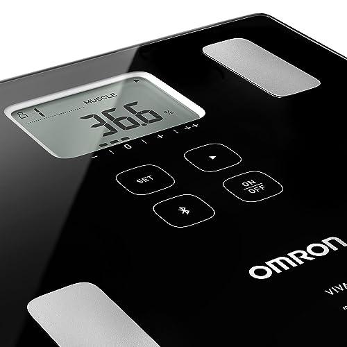 OMRON VIVA Báscula inteligente y monitor de composición corporal con medición de peso grasa corporal grasa visceral músculo esquelético metabolismo basal e IMC