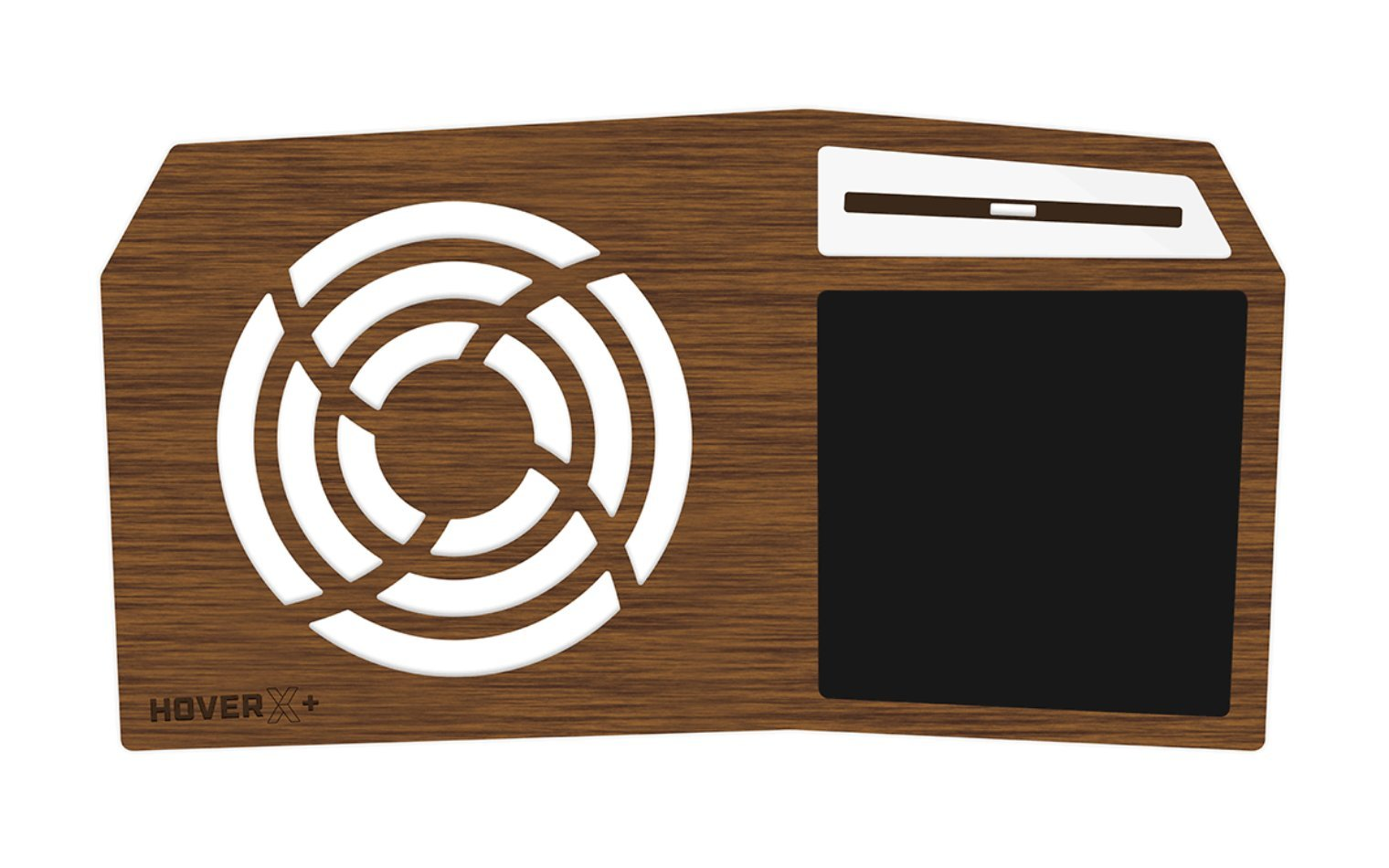 iSkelter Hover X+ - Ultimate Gamers LapDesk - Giant Gamers Mousepad - Heat Ventilation - Natural or Walnut Bamboo - Made in The USA (Extended - 17'' Laptops, Limited Walnut Bamboo)