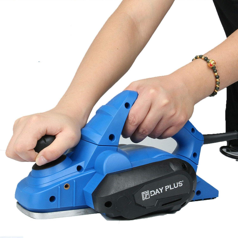 Elektrohobel Spantiefe: 3mm Hobelbreite: 82mm Elektro Hobelmaschine 650W Elektrowerkzeug f/ür die Holzbearbeitungmit 18000 RPM
