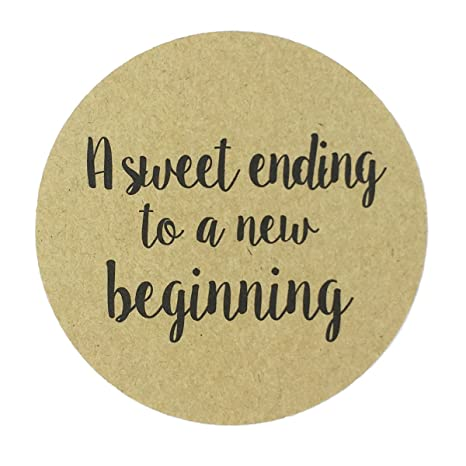 Amazon 80 2 Kraft A Sweet Ending To A New Beginning Stickers