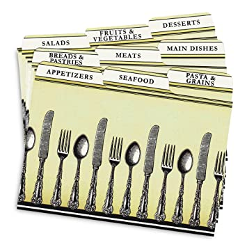 AmazonCom Cookbook People Recipe Card Dividers For X Recipe