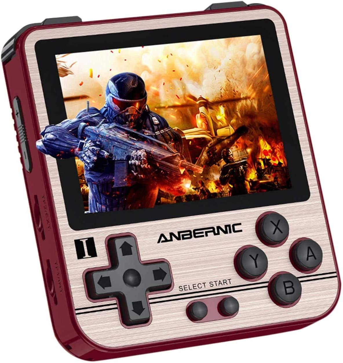 MJKJ RG280V Handheld Game Console , Retro Game Console Free with 64G TF Card 5000 Classic Games , 2.8 Inch IPS Screen Portable Video Game Console -Golden
