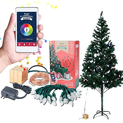 airgoo led colored christmas tree lights smartphone control with 33ft 100pcs warm white string and