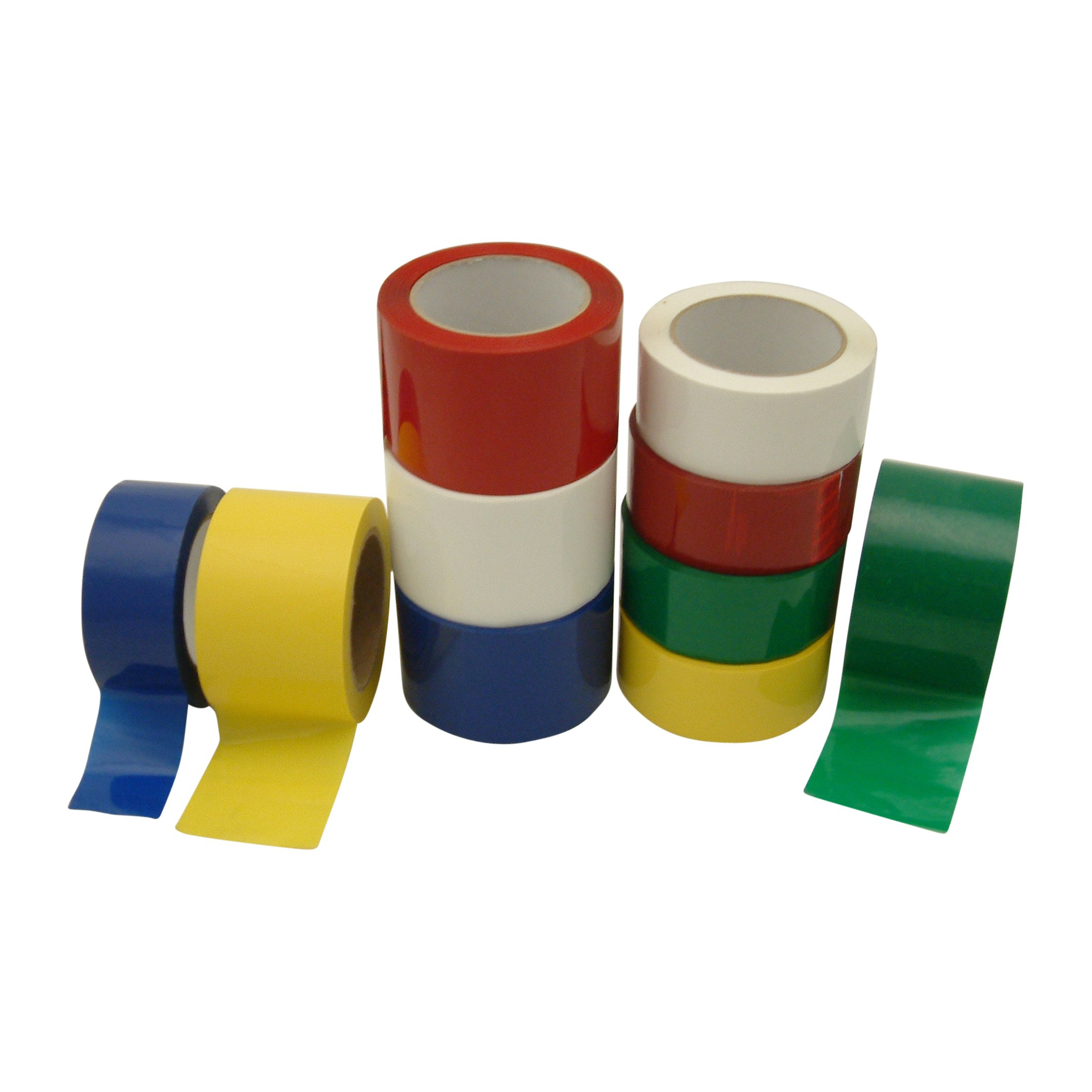 JVCC OPP-26C Premium Grade Colored Packaging Tape: 2 in. x 72 yds. (Red) by J.V. Converting