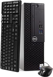 Dell Optiplex 3050 SFF Desktop PC, Intel i5-6500 3.2GHz 4 Core, 16GB DDR4, 500GB SSD, WiFi, Win 10 Pro, Keyboard, Mouse (Renewed)