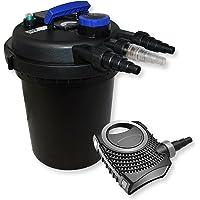 SunSun Kit Filtración Estanque de presión 6000L 11 W UVC clarificador neo8000 70 W Bomba