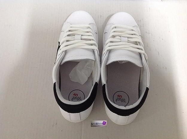 Woz up Scarpe Sneakers Basse Uomo Pelle Bianca Stella Nera Nuovo NUM 41 Traforato - Taglia Scarpa 41 Finishline Barato Envío Gratis Real Tienda De Descuento En Línea De Envío UDEthPCp