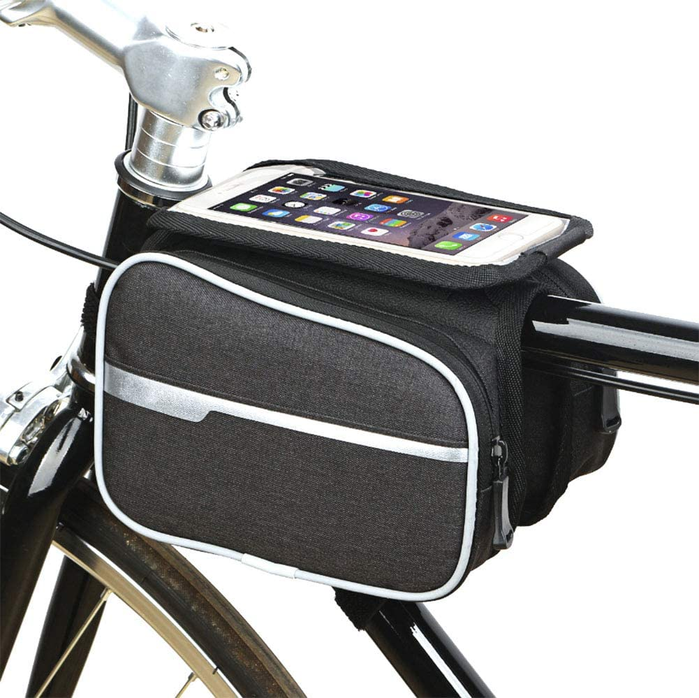 HW Bolsa Bicicleta Frontal 2-Lados alforja Delantera Bolsa de ...