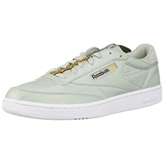Reebok Men's Club C 85 Sneaker, sea Spray/White/Lush Earth/Gold/Mineral dust, 9 M US