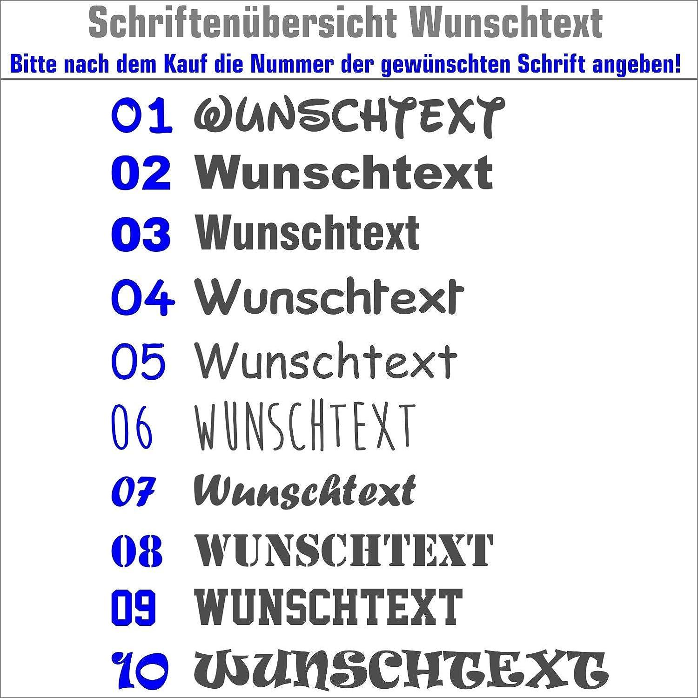 Warnweste Signalweste Sicherheitsweste bedruckt mit Wunschlogo Name Text Motiv SIGNAL ORANGE R/ücken rechte Brust