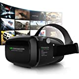 3D VR Headset, Yove 3D Virtual Reality Headset with Adjustable Lens and Strap for iPhone 7 6 6s 5 5s 6splus Samsung S3 Edge Note 4 and 3.5-5.5 inch Smartphone for 3D adult Movies and 3D Games