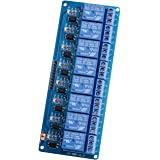 ELEGOO 8 Channel DC 5V Relay Module with Optocoupler for Arduino UNO R3 MEGA 2560 1280 DSP ARM PIC AVR STM32 Raspberry Pi