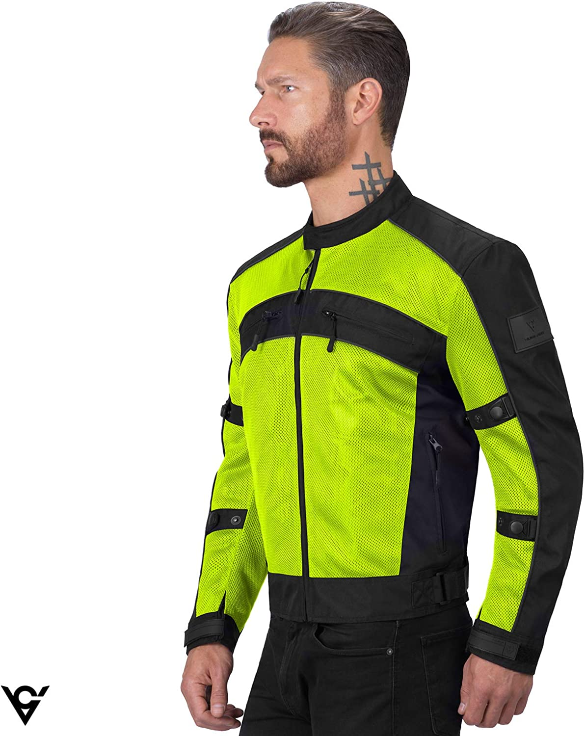 CE Approved Breathable Armor for Bikers Adjustable Viking Cycle Ironside Textile Mesh Motorcycle Jacket for Men