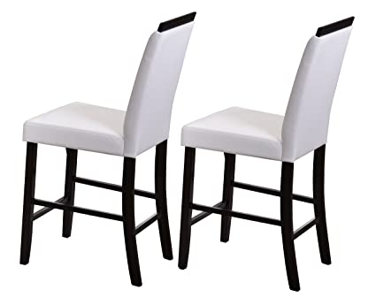 kings brand furniture counter parsons dining chairs set of 2 white 24quot - Parsons Dining Chairs