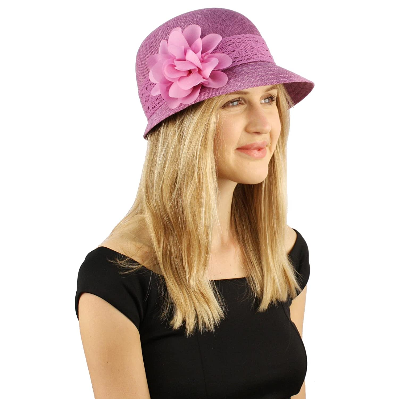 Sweet Summer 1920s Floral Lace Ruffle Derby Bucket Bell Cloche Sun Hat SK-Hat-Shop
