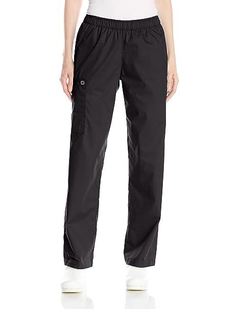 80a59e51bf8 WonderWink Women's Wonderwork Pull-On Cargo Scrub Pant, Black, XX-Small  Petite