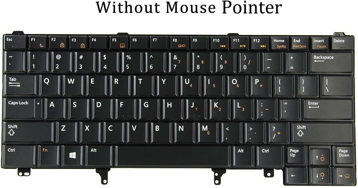 wangpeng New For Dell Latitude E6230 E6430 E6430s keyboard US backlit No-pointer