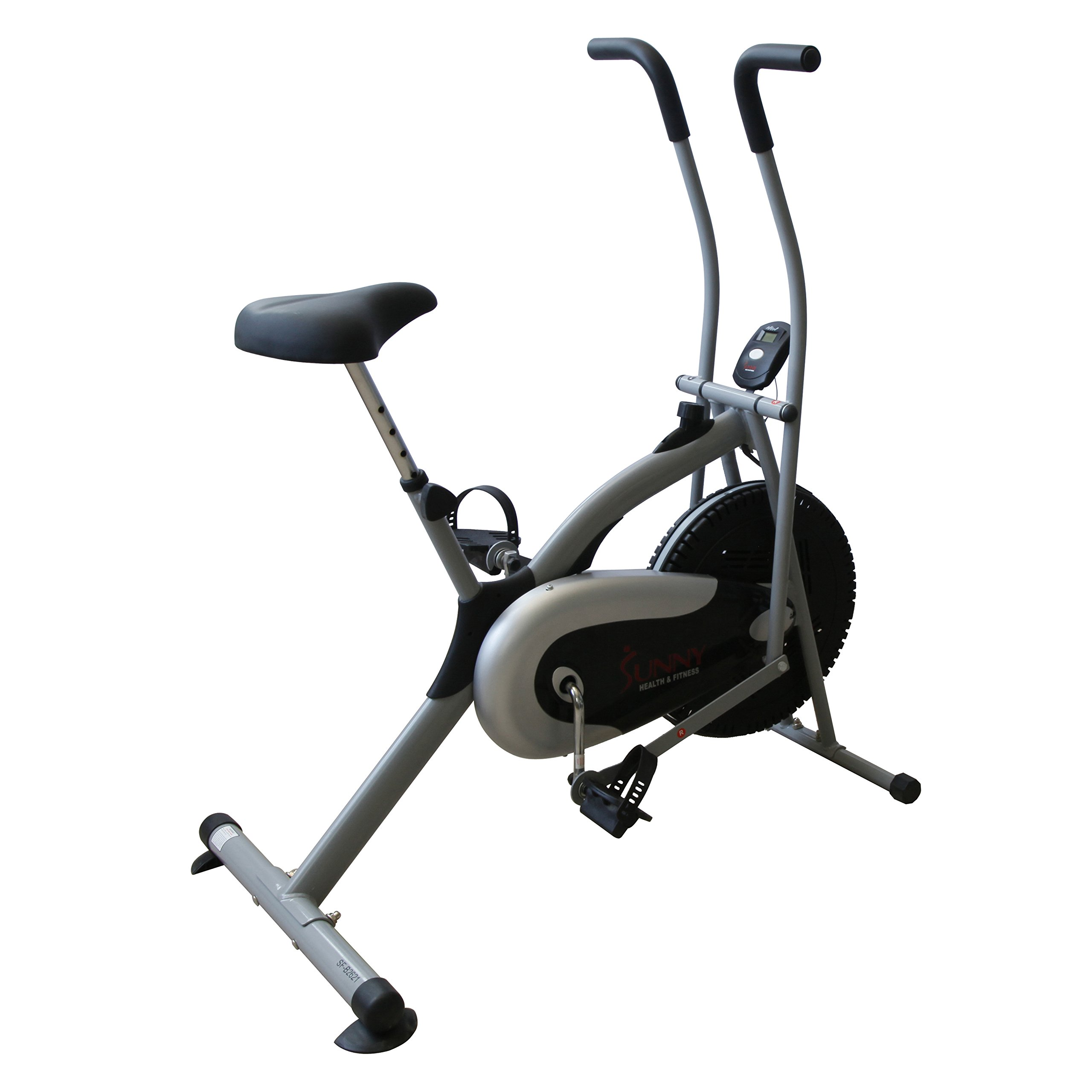 Sunny Health & Fitness SF-B2621 Cross Training Fan Upright Exercise Bike w/ Arm Exercisers by Sunny Health & Fitness (Image #3)