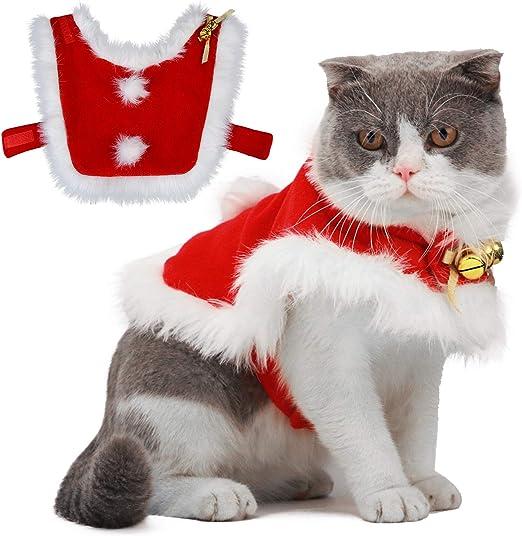 Deguisement Pour Chat Noel Legendog Robe Noel Chat,Nouveau Deguisement de Noel Chat  Taille