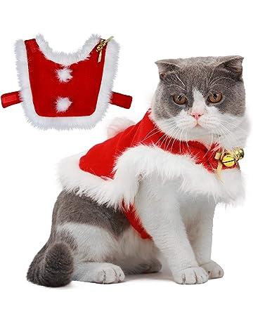 Legendog Cat Christmas Costume , Adjustable Santa Pet Cape Cat Santa Clothes  with Bells Xmas - Amazon.co.uk Cat Clothing