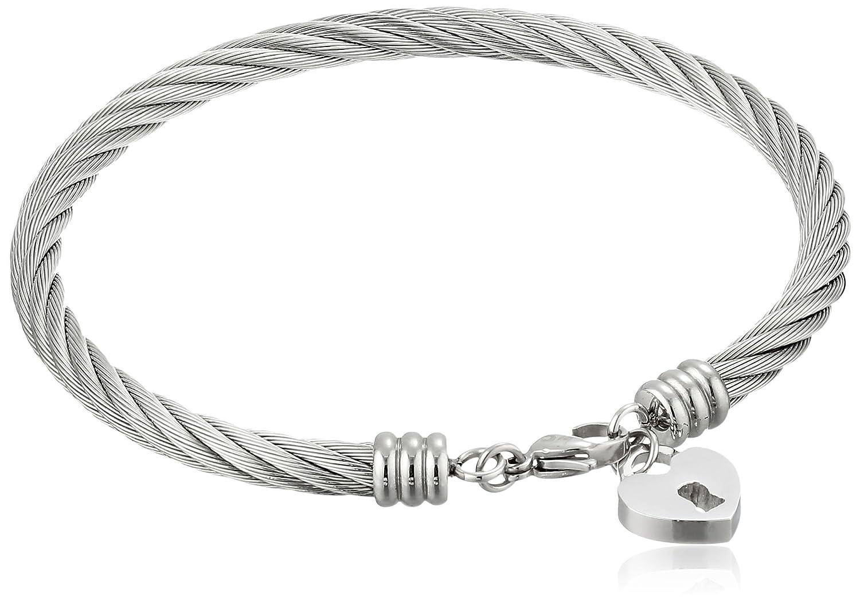 Amazon.com: Brazalete estilo cable retorcido con dije en ...
