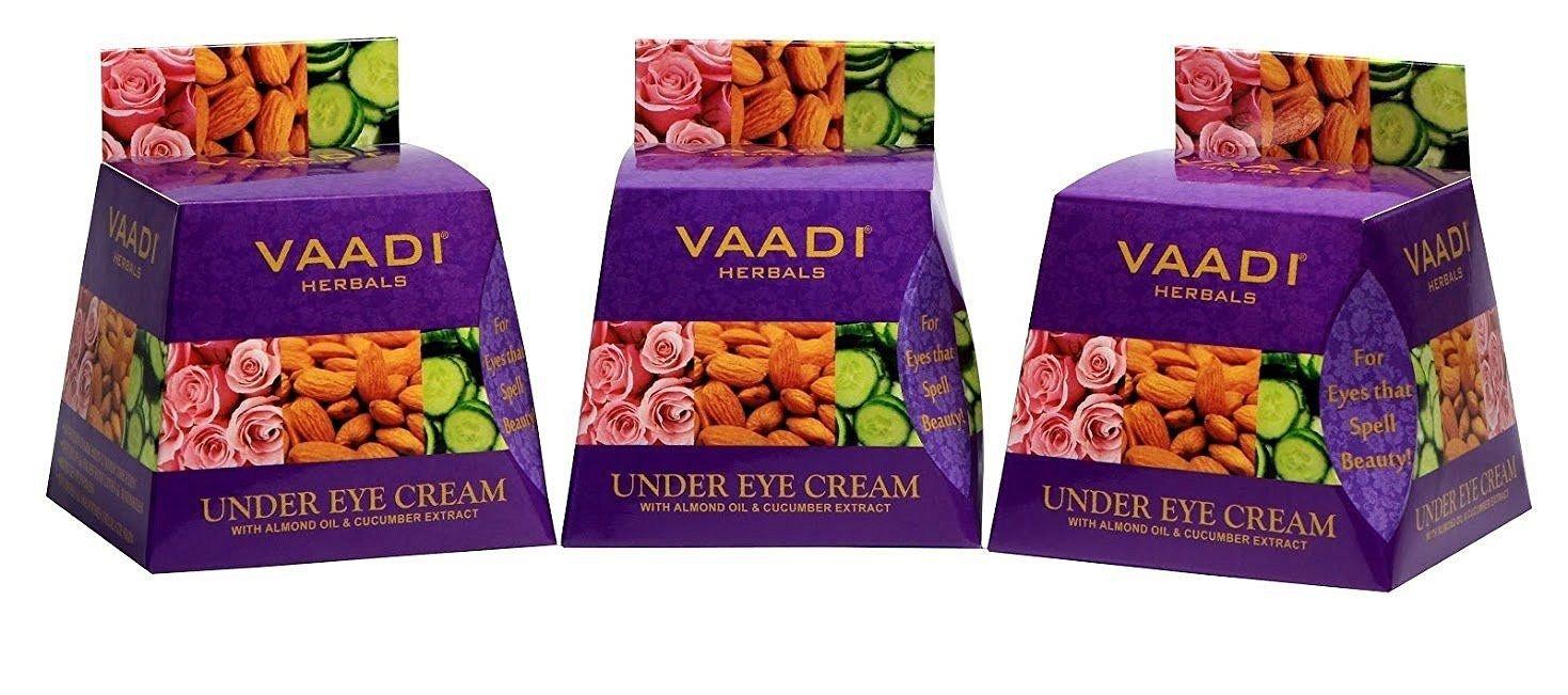 VALUE PACK VON 3 unter Eye Cream - Mandelöl & Gurke Extrakt | alle natur - paraban gratis --Sulfat frei - Unisex - (3 x 30 gms) Vaadi Herbals Private Limited