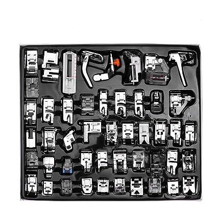 Máquina de coser Presser Foot Kit Hem Pies de repuesto Accesorios para Brother Singer Juego de