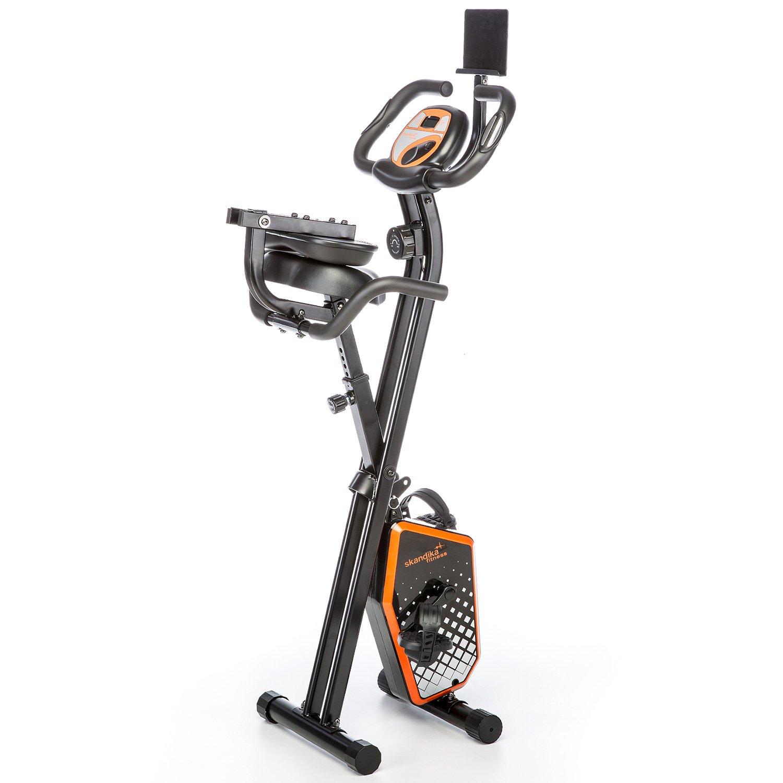 skandika Foldaway X-1000 PLUS - bicicleta estática de fitness - plegable - Bluetooth + soporte de tablet (negro): Amazon.es: Deportes y aire libre