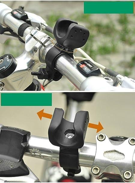 Nuevo Soporte de luz para Bicicleta Manillar Montaje Ciclismo Bicicleta Clamp Clip Holder para Linterna LED Nueva Marca