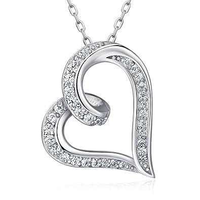 925 Sterling silber Unendlichkeits Herz Kette Damen Halskette - Billie  Bijoux quot Endlosigkeit Liebe quot  Platin 38d9674532