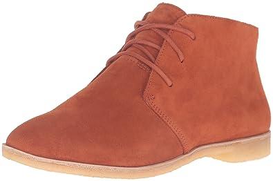 Clarks Women's Phenia Desert Boot, Rust Vintage Suede, ...